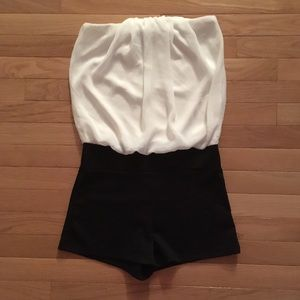 Other - Pleated Strapless Romper